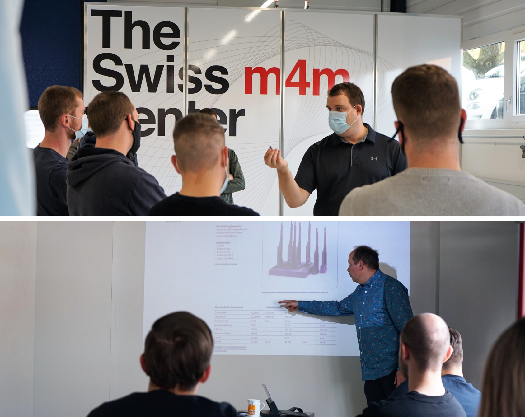 Training at the Swiss m4m Center