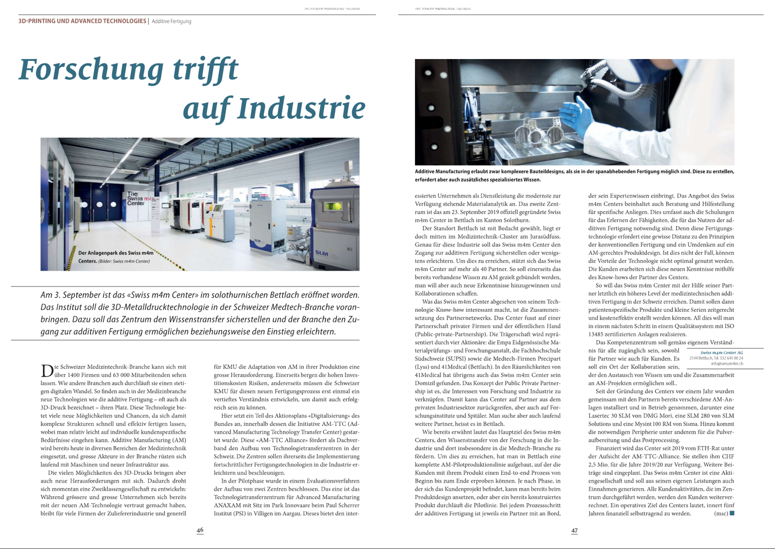 Research meets industry - Technische Rundschau
